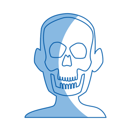 human anatomy: xray of head bone structure of human medical health vector illustration Illustration
