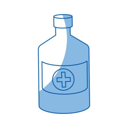medicament: bottle medicine pharmacy cross symbol vector illustration Illustration