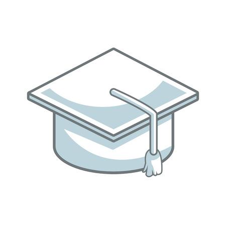 tassel: graduation cap accessory education success symbol vector illustration