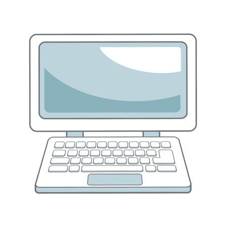 touchpad: laptop computer device technology wireless vector illustration