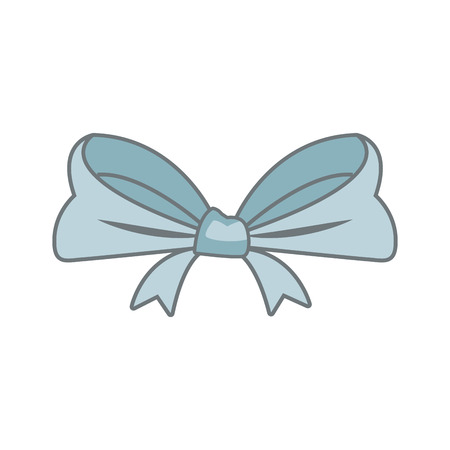 smooth ribbon beam bow decoration image vector illustration Illustration