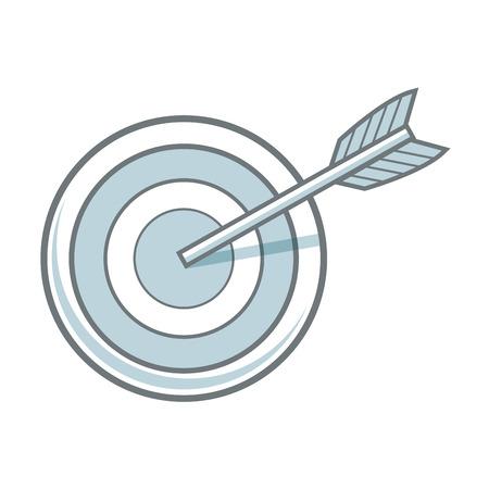 effectiveness: arrow hitting a target business solution concept vector illustration Illustration