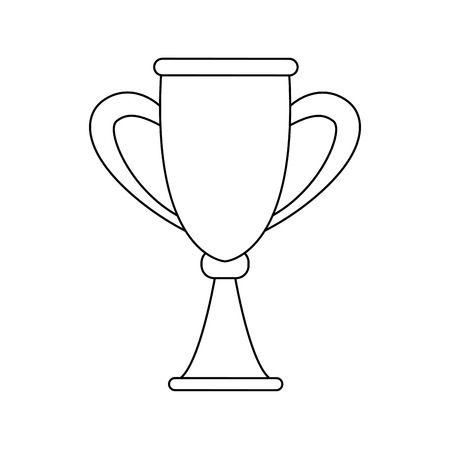 champ: trophy award competition winner icon vector illustration Illustration