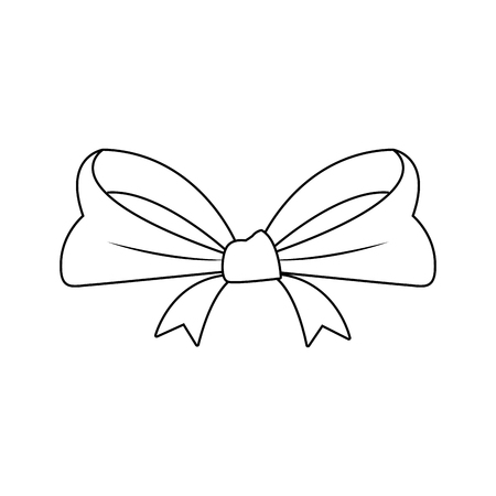 smooth ribbon beam bow decoration image vector illustration Illustration