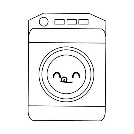 accompanied: washing machine icon home appliance symbol vector illustration