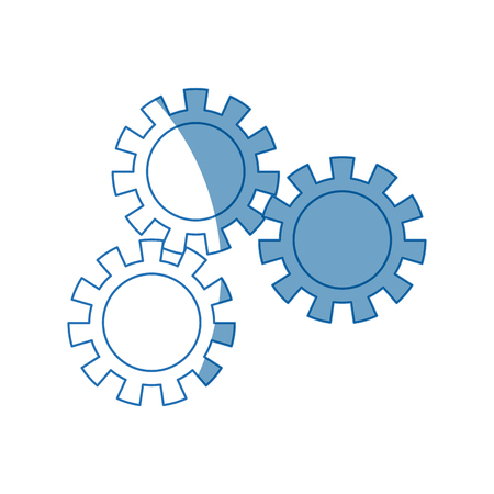 progressing: set gear wheel cog cooperation teamwork concept vector illustration