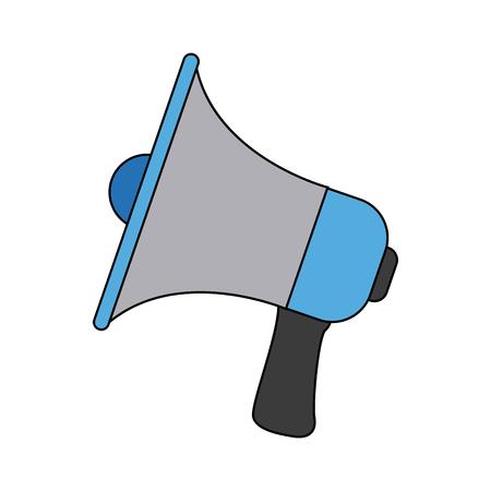 proclaim: megaphone announce audio volume voice vector illustration