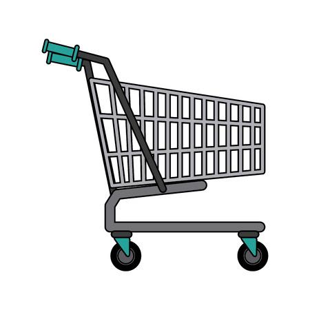 shopping cart market store empty buy symbol vector illustration Illustration