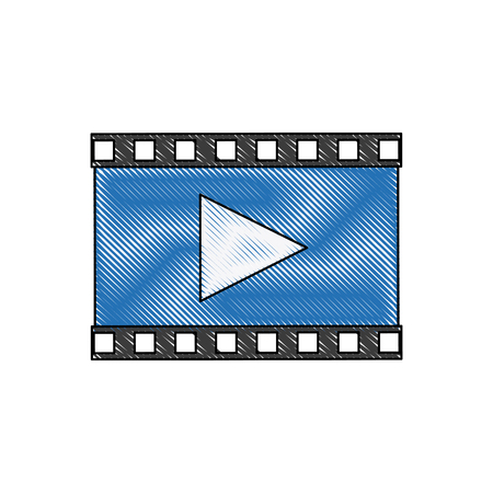 pause button: play video multimedia music web icon vector illustration