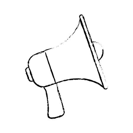megaphone announce audio volume voice vector illustration