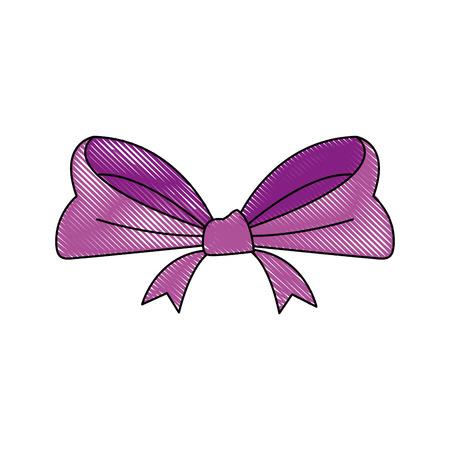 smooth background: smooth ribbon beam bow decoration image vector illustration Illustration