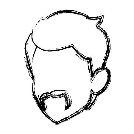 male avatar profile picture portrait man vector illustration