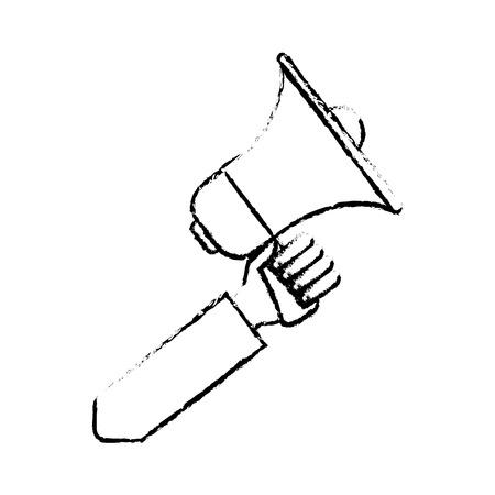 proclaim: hand holding speaker loud marketing business vector illustration Illustration