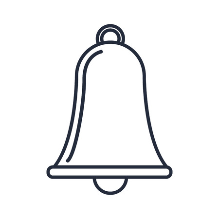 outlined bell alarm simple ring object vector illustration
