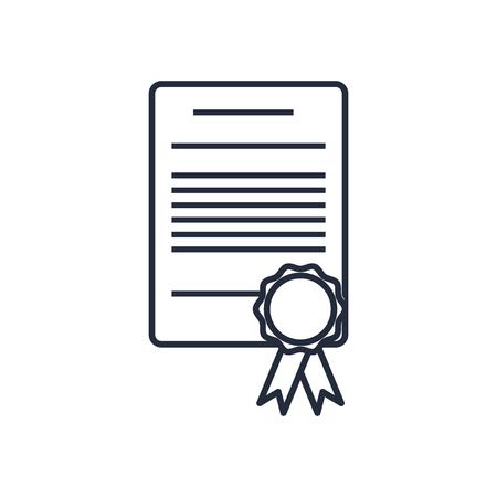 edges: cetificate diploma stamp certificate rosette vector illustration