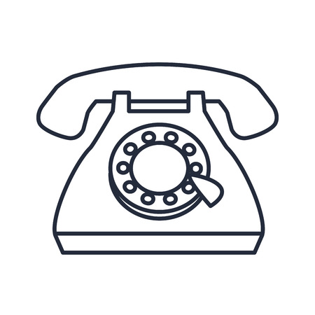 vintage telephone communication call talk icon vector illustration