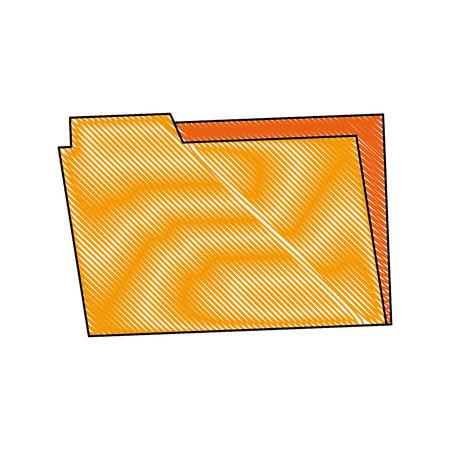 catalog: Folder archive office supply element blank icon vector illustration