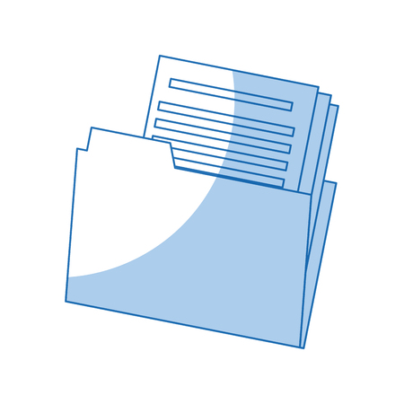 Folder file document paper office archive vector illustration