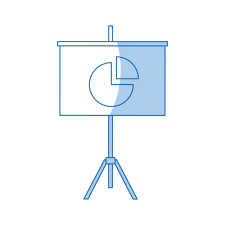 cultivate: Presentation financial board with graph flat icon vector illustration