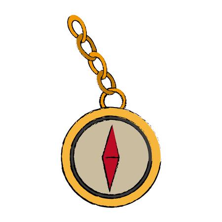 Navigation compass icon destination travel direction vector illustration