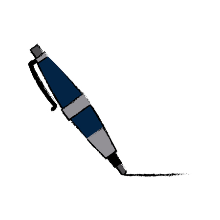rollerball: ball point pen stationery write supply accessory vector illustration