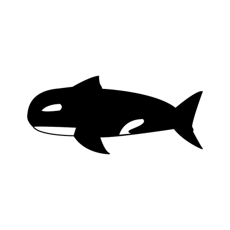 orca whale wildlife marine aquatic vector illustration Illustration