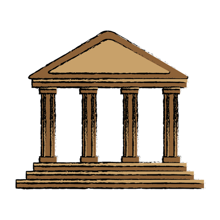 bank building in the style of a classical vector illustration