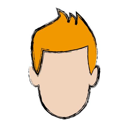 man avatar profile picture people vector illustration Illustration