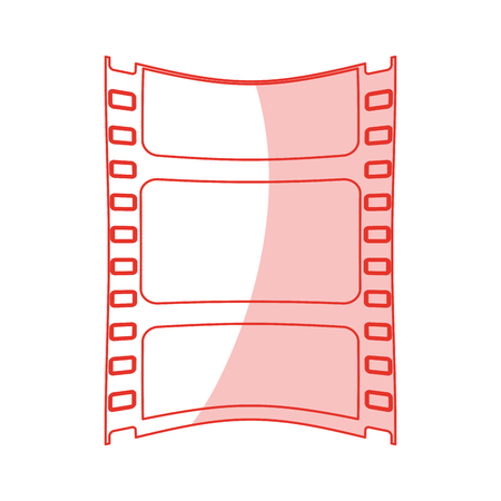 viewing: Flat line monocromatic film strip over white background vector illustration Illustration