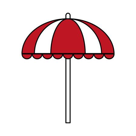 Flat line umbrella over white background vector illustration