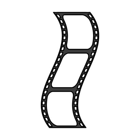 Flat line film strip over white background vector illustration Illustration