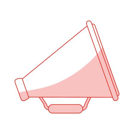 Flat line monocromatic megaphone over white background vector illustration