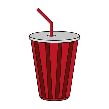 Soda cup over white background vector illustration