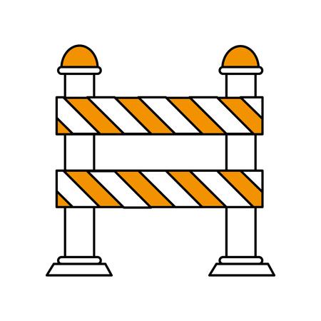 traffic pole: Flat line street sign over white background vector illustration