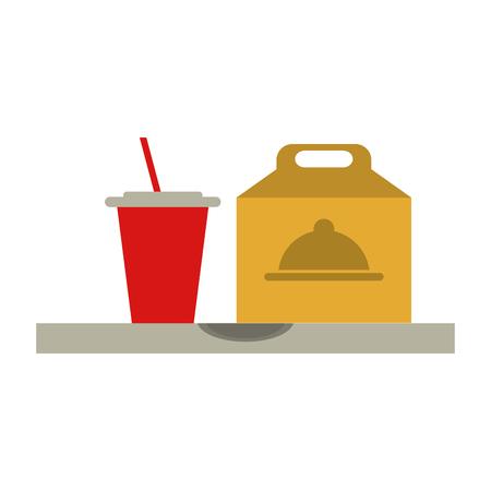 Pizza domicile fast food icon vector illustration design graphic