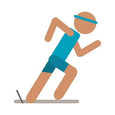 persona come sport icona illustrazione vettoriale illustrazione grafica