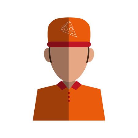 Pizza kleding messenger pictogram vector illustratie ontwerp schaduw