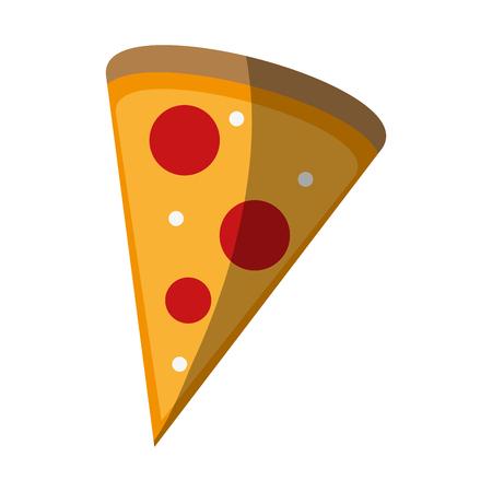 Pizza domicile fast food icon vector illustration design shadow