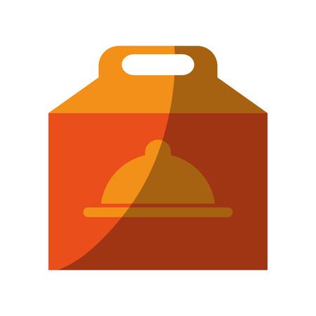 A pizza domicile fast food icon vector illustration design shadow Ilustração