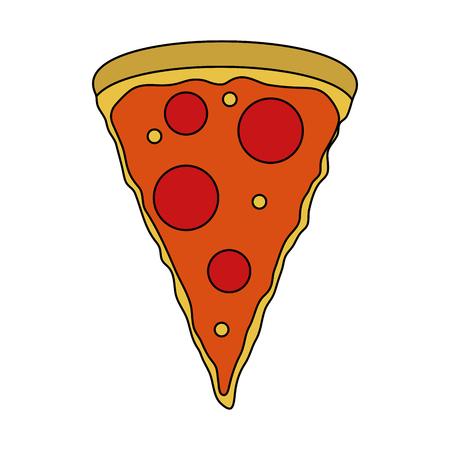 Pizza domicile fast food icon vector illustration design image Ilustração