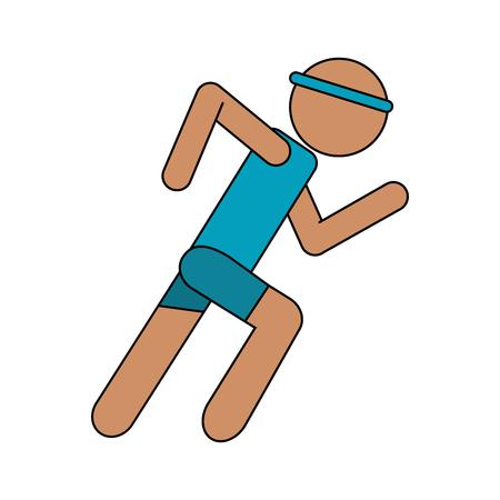 persona come sport icona illustrazione vettoriale illustrazione di design