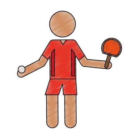 Persona come icona sportiva illustrazione vettoriale doodle design
