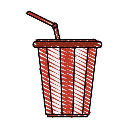 thirsty: soda drink delicious icon vector illustration design doodle Illustration