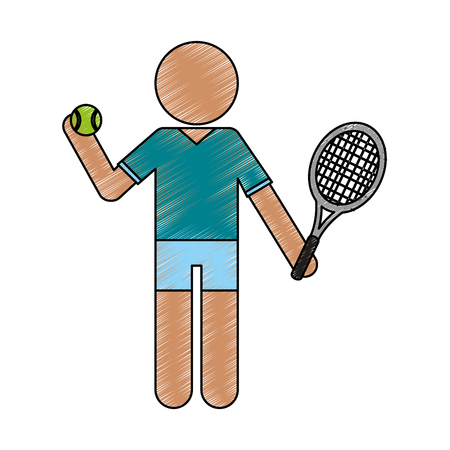 likes: Person who likes sport icon vector illustration design doodle