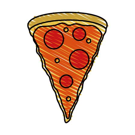 pizza domicile fast food icon vector illustration design doodle