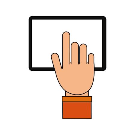 Pizza domicile fast food icon vector illustration design image Illustration