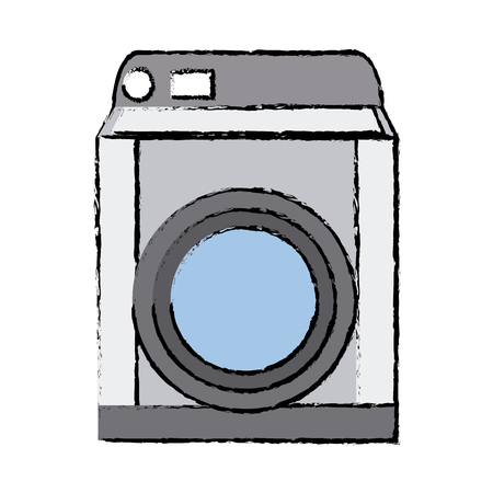 rinse: washing machine appliance technology clean vector illustration