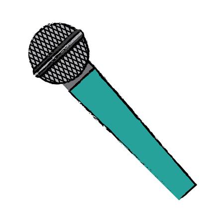 microphone voice sound audio speech vector illustration