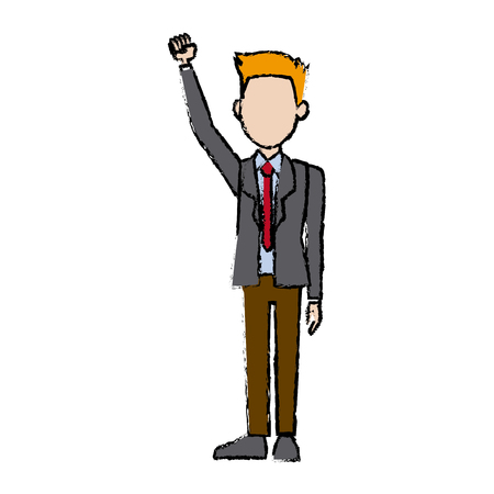 business man character campaign staff people vector illustration
