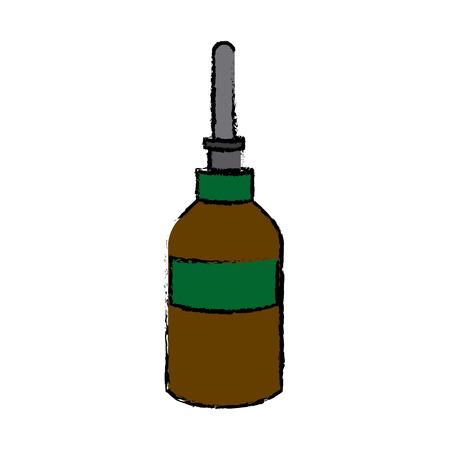 dropper bottle medical health care vector illustration Illustration